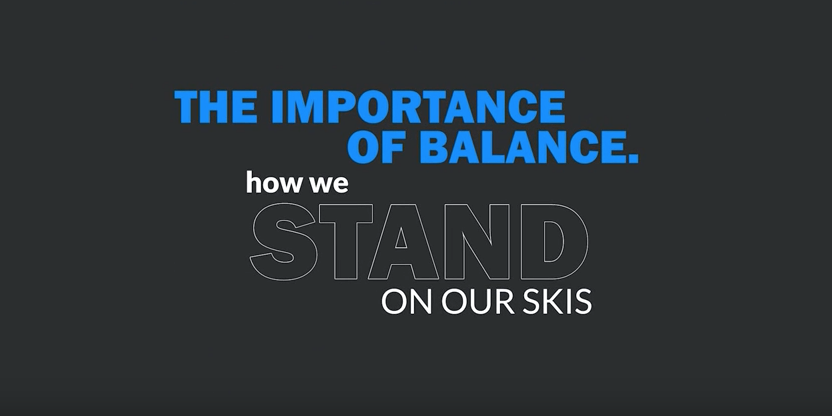 Where To Stand On Your Skis.