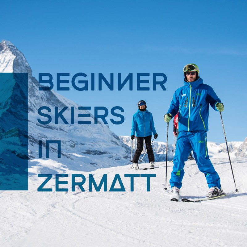 Beginner Skiers In Zermatt